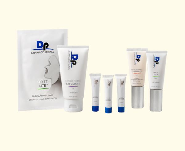 DP Dermaceuticals Brightening Starter Kit in Luxe pouch